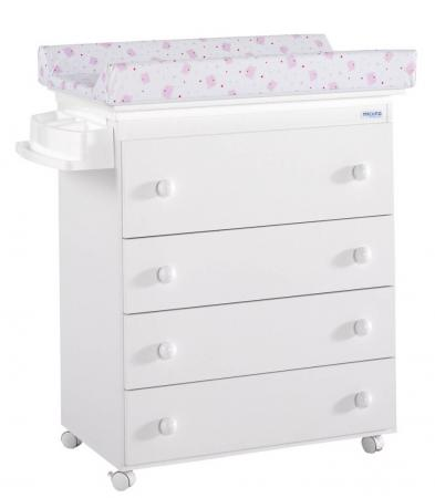 Комод пеленальный Micuna B-947 (white/матрасик pink bears) pink white dots twin size chair fold foam bed 1 8lb density sofa beds 6x32x70