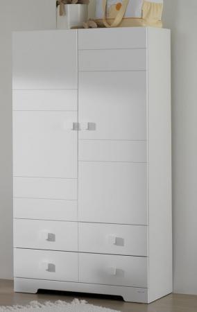 Шкаф двустворчатый Micuna А-1412 (white) meblik шкаф двустворчатый meblik орхидея 90