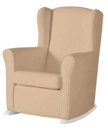 Кресло-качалка Micuna Wing Nanny (white/beige искусственная кожа) колыбель micuna микуна mini fresh с текстилем мо 1560 white beige