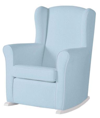 Кресло-качалка Micuna Wing Nanny (white/blue искусственная кожа) стул onlitop migel briz 161296 blue cyan кресло качалка