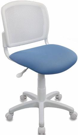 Кресло детское Бюрократ CH-W296NX/26-24 спинка сетка белый TW-15 сиденье голубой 26-24 477072
