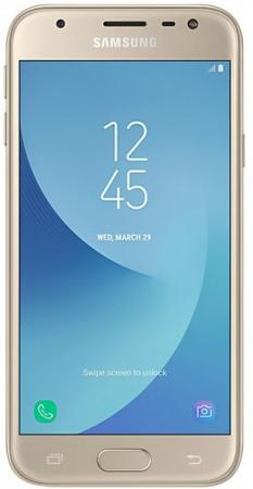 Смартфон Samsung Galaxy J3 2017 золотистый 5 16 Гб LTE Wi-Fi GPS 3G SM-J330FZDDSER ноутбук lenovo v110 17isk 80vm000vrk intel core i3 6006u 2 0 ghz 4096mb 1000gb dvd rw intel hd graphics wi fi bluetooth cam 17 3 1600x900 windows 10 64 bit