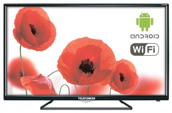 Телевизор LED 48 Telefunken TF-LED48S39T2S черный 1920x1080 50 Гц Smart TV Wi-Fi RJ-45 Bluetooth телевизор led 40 bbk 40lex 5027 t2c черный 1366x768 50 гц wi fi smart tv vga rj 45