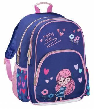Рюкзак HAMA Pretty Girl 14 л синий розовый 00139090 рюкзак hama all out louth blue dream check голубой черный 22 л 00129218
