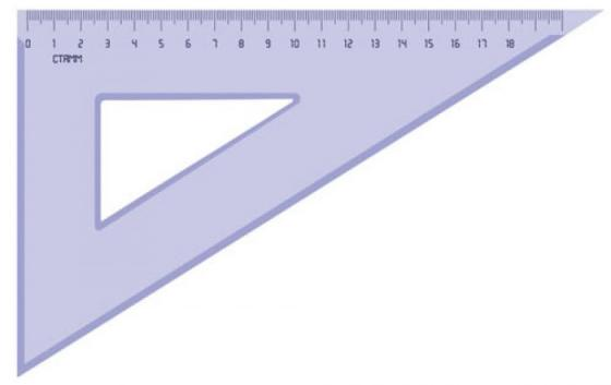Треугольник СТАММ ТК49 18 см пластик
