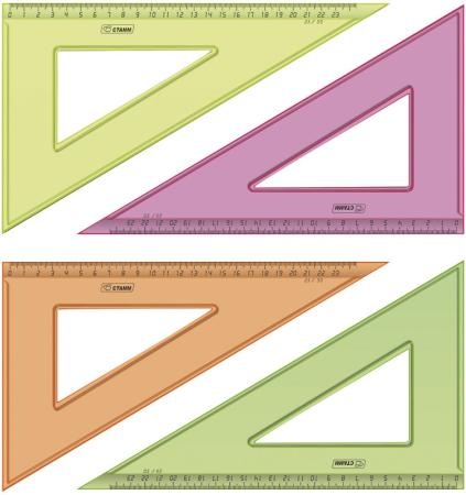 Треугольник СТАММ ТК54 23 см пластик в ассортименте