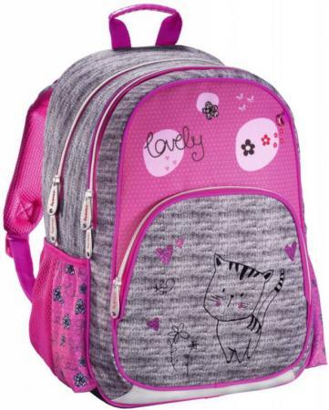 Рюкзак HAMA Lovely Cat 14 л серый розовый 00139089 рюкзак hama all out louth blue dream check голубой черный 22 л 00129218
