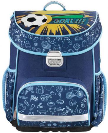 Ранец ортопедический HAMA Soccer 18 л синий 00139069 сумка для обуви hama soccer 00139107 синий голубой 33x40см 1 отдел б карм полиэстер