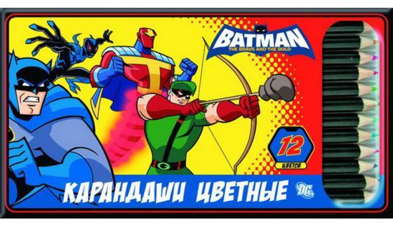 Набор цветных карандашей Action! «Бэтмен: отважный и смелый» 12 шт набор цветных карандашей maped color peps 12 шт 683212 в тубусе подставке