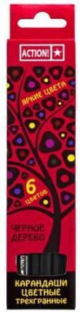 Набор цветных карандашей Action! 4607692490544 6 шт 160 мм lyra набор цветных карандашей super ferby 6 шт