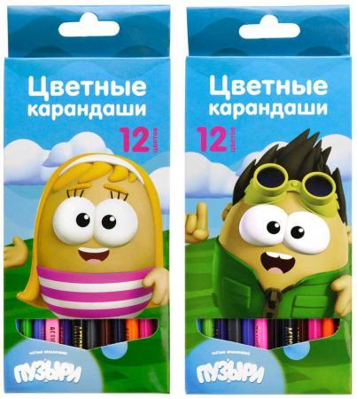Набор цветных карандашей Action! Пузыри 12 шт 2 дизайна набор цветных карандашей maped color peps 12 шт 683212 в тубусе подставке