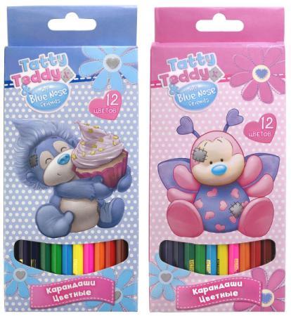 Набор цветных карандашей Action! Teddy and Blue Nose Friends 12 шт в ассортименте набор кистей action blue nose friends 5 шт пони bnf abs005p