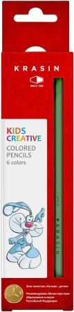 Набор цветных карандашей Фабрика Красина ВЕСЕЛЫЙ КРОЛИК 6 шт 176 мм 4м фабрика цветных мелков