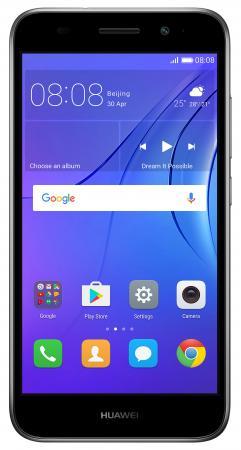 "Смартфон Huawei Y3 2017 серый 5"" 8 Гб Wi-Fi GPS 3G CRO-U00 51050NCW cro berlin"