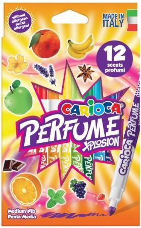 Набор фломастеров CARIOCA Perfume 4.7 мм 12 шт разноцветный 42672/12 carioca набор смываемых восковых карандашей baby 8 цветов