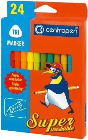 цена Набор фломастеров Centropen 2570/24 2 мм 24 шт разноцветный онлайн в 2017 году