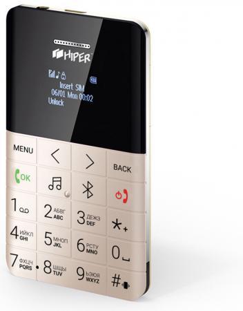 "Мобильный телефон HIPER ONE GOLD MP-01GLD золотистый 0,96"" 32 Мб цены онлайн"