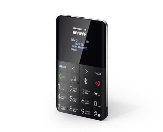 """Мобильный телефон HIPER MP-01BLK черный 0,96"""" 32 Мб цена 2017"""