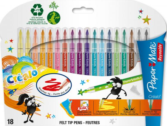 Набор фломастеров Paper Mate Crealo 0.5 мм 18 шт разноцветный PM-S0251913