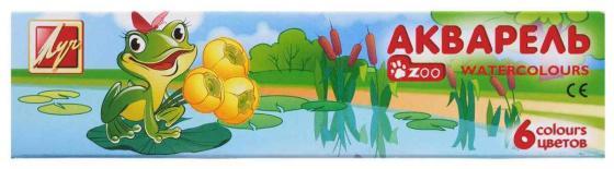 Акварель Луч Zoo 6 цветов с кистью акварель луч престиж с золотом new 6 цветов 18с1230 08