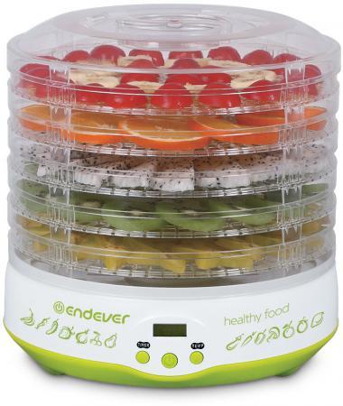 Сушилка для овощей и фруктов ENDEVER Skyline FD-59 белый салатовый стоимость