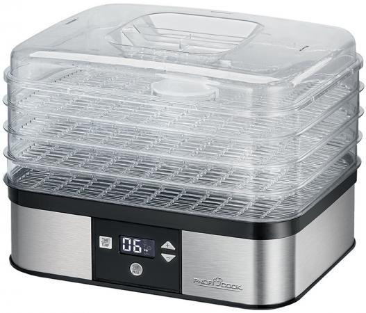 Сушилка для овощей и фруктов ProfiCook PC-DR 1116 серебристый прозрачный цена