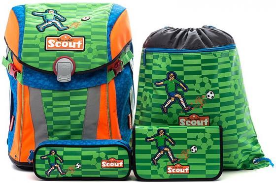 Ранец с наполнением Scout Sunny Basic Футбол 15 л зеленый рисунок 734107-988 scout scout ранец genius exklusiv с наполнением 4 предмета пиратский корабль