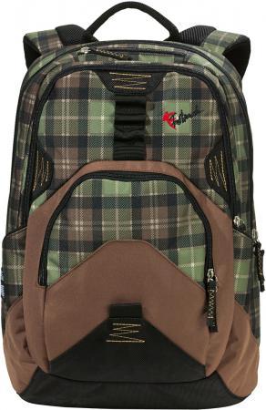 Рюкзак FASTBREAK Daypack II Клетка 23  черный зеленый 124300-108