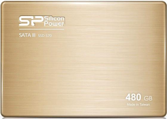 Твердотельный накопитель SSD 2.5 480 Gb Silicon Power S70 Read 557Mb/s Write 507Mb/s SATA III SP480GBSS3S70S25 kingfast ssd 128gb sata iii 6gb s 2 5 inch solid state drive 7mm internal ssd 128 cache hard disk for laptop disktop