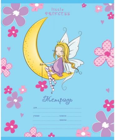 цена на Тетрадь школьная Би Джи Little Princess 12 листов линейка скрепка Т5ск12гл 1371