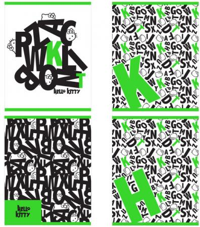 Тетрадь общая Action! Hello Kitty HKO-AN-4801/5-3 48 листов клетка скрепка в ассортименте тетрадь общая action черно белый мир 96 листов клетка скрепка an 9625 5 в ассортименте an 9625 5
