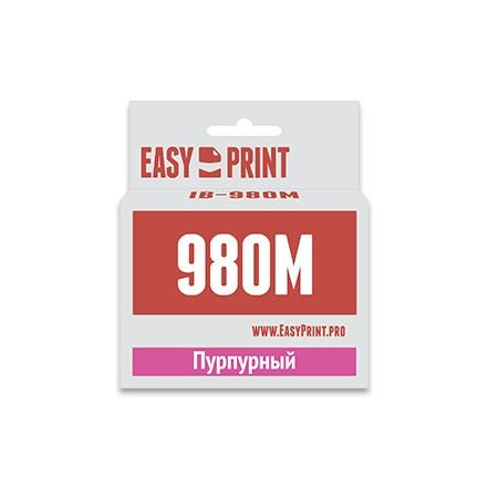 Картридж EasyPrint LC-1100M/980M для Brother DCP-145C/375CW/MFC-250C/990CW пурпурный IB-980M refillable color ink jet cartridge for brother printers dcp j125 mfc j265w 100ml