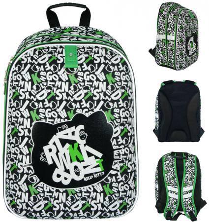 Школьный рюкзак с анатомической спинкой Action! Hello Kitty 17 л черный белый зеленый светоотражающие элементы HKO-ASB4614/2 цена