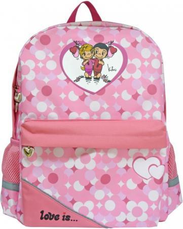 Школьный рюкзак светоотражающие материалы Action! LOVE IS LI-AB1293/ASS 20 л розовый