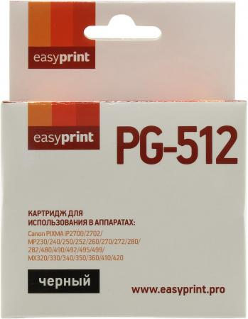 Картридж EasyPrint IC-PG512 для Canon PIXMA iP2700/MP230/260/280/480/MX330/360/410 черный