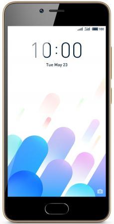 Фото Смартфон Meizu M5c золотистый 5 16 Гб LTE Wi-Fi GPS 3G смартфон meizu m5 черный 5 2 16 гб lte wi fi gps 3g mzu m611h 16 bk