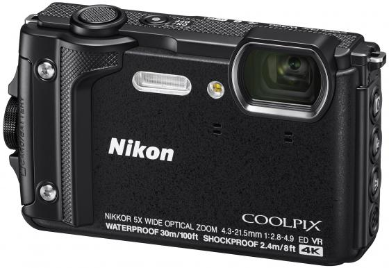Фотоаппарат Nikon CoolPix W300 16Mp 5x Zoom черный VQA070E1 фотоаппарат nikon coolpix a10 black 16mp 5x zoom sd usb 2 7