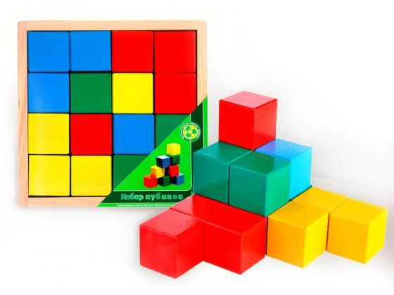 Кубики ПРЕСТИЖ-ИГРУШКА Кубики цветные 16 шт АЦ2200 игрушка кубики