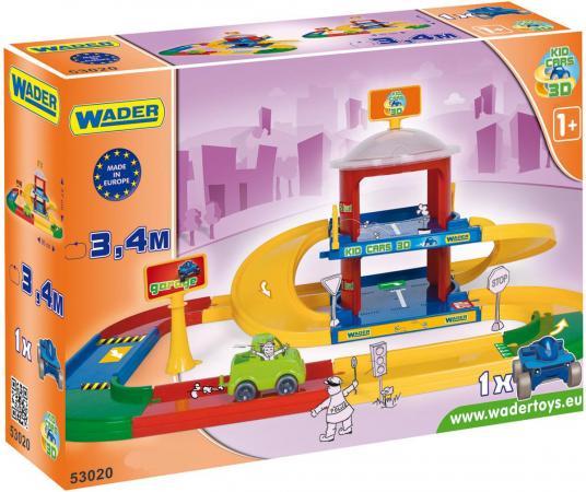 Игровой набор WADER Kid Cars 3D гараж 2 этажа  53020 игровой набор wader kid cars 3d аэропорт 53350