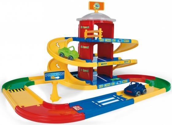 Игровой набор WADER Kid Cars 3D гараж 3 этажа 53040 полесье полесье детский гараж для машинок wader kid cars 3d 3 этажа