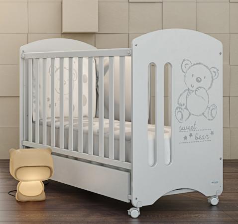 Кроватка-качалка Micuna Sweet Bear (white) бортики в кроватку micuna sweet bear 120х60