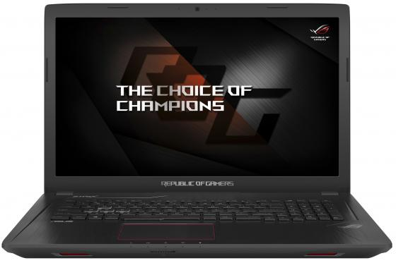 Ноутбук ASUS ROG GL753VE-GC137T 17.3 1920x1080 Intel Core i7-7700HQ 1 Tb 256 Gb 12Gb nVidia GeForce GTX 1050Ti 4096 Мб черный Windows 10 Home 90NB0DN2-M02050 видеокарта asus geforce gtx 1060 1620mhz pci e 3 0 6144mb 8208mhz 192 bit dvi hdmi hdcp rog strix gtx1060 o6g gaming