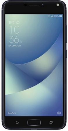 Смартфон ASUS ZenFone 4 Max ZC554KL черный 5.5 16 Гб LTE Wi-Fi GPS 3G 90AX00I1-M00010 смартфон asus zenfone zf3 laser zc551kl золотистый 5 5 32 гб wi fi lte gps 3g 90az01b2 m00050