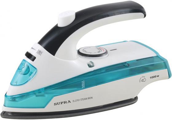 Утюг Supra IS-2701 1000Вт белый синий утюг supra is 0500p 1700вт бело синий