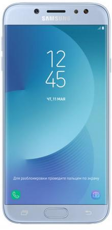 Смартфон Samsung Galaxy J7 2017 голубой 5.5 16 Гб NFC LTE Wi-Fi GPS 3G SM-J730FZSNSER смартфон philips s395 голубой 5 7 16 гб lte wi fi gps 3g cts395bu 00