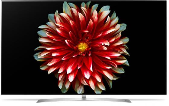 Телевизор LED 55 LG OLED55B7V белый серебристый 3840x2160 100 Гц Wi-Fi Smart TV RJ-45 Bluetooth WiDi S/PDIF