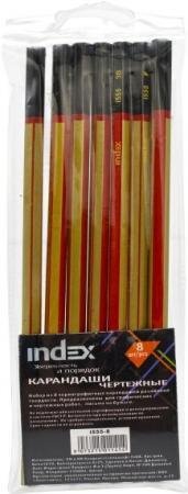 Набор графитовых карандашей Index I555-8 8 шт carioca набор смываемых восковых карандашей baby 8 цветов