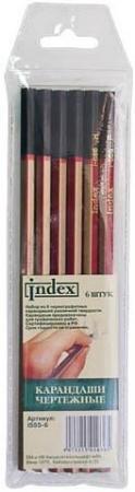 Набор графитовых карандашей Index I555-6 6 шт цены онлайн