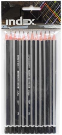 Набор графитовых карандашей Index I251/12 12 шт цены онлайн