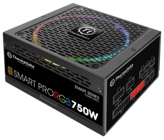 Блок питания ATX 750 Вт Thermaltake Smart Pro RGB PS-SPR-0750FPCBEU-R цена и фото